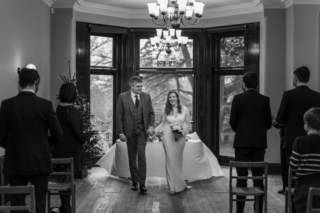 Marriage ceremony at Insole Court