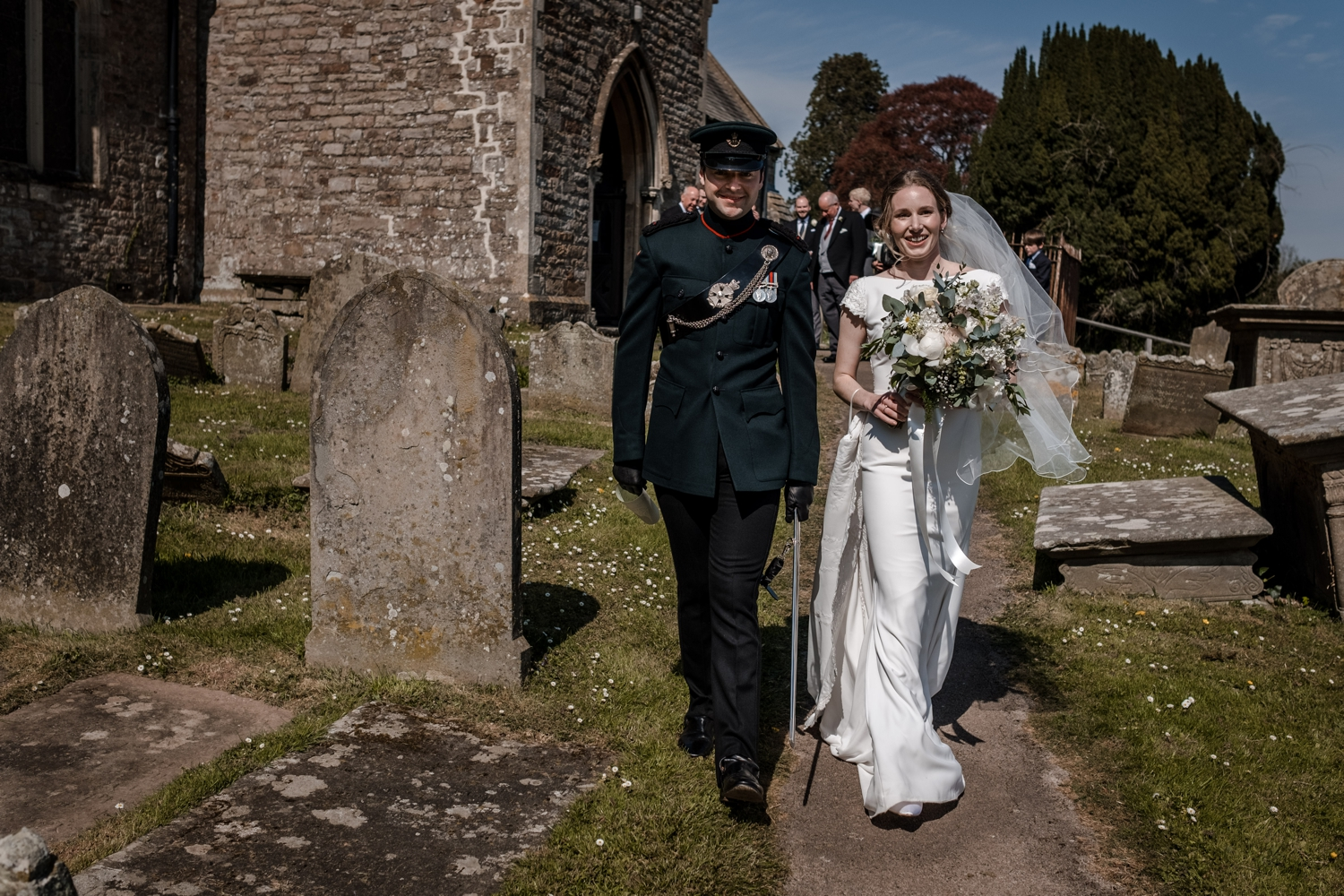 Bride and groom at micro wedding due to covid restrcitions