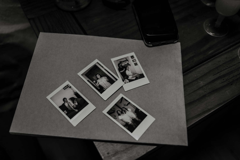 Wedding morning polaroids