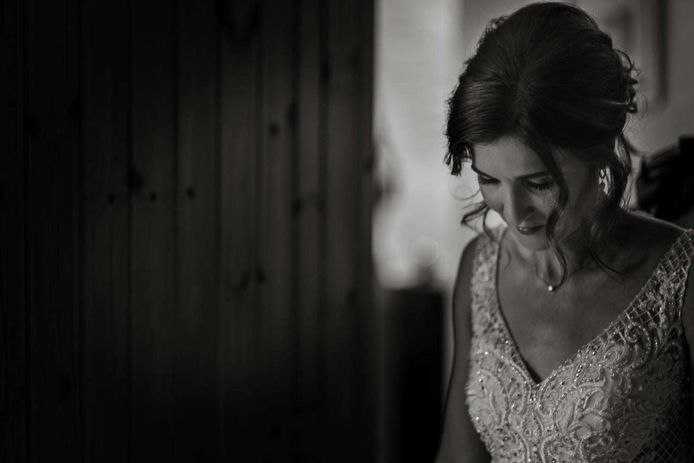 bride looking pensive