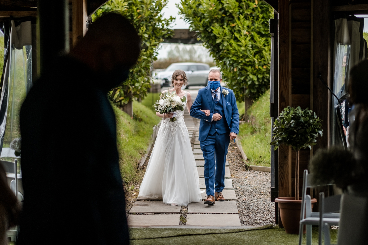 Marriage ceremony at Woodhouse Barn