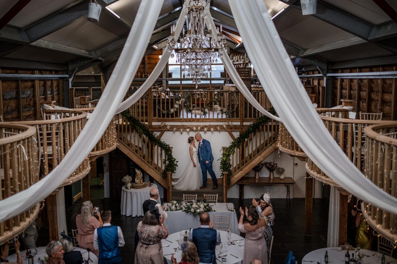 Wedding reception at Woodhouse Barn
