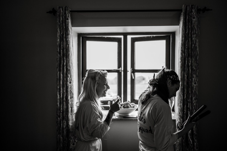 Bridal preparations at Ocean View Windmill Farm