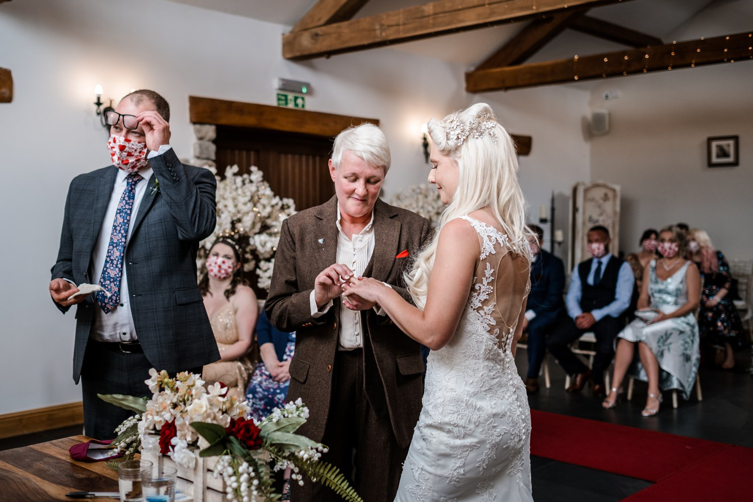 Same sex marriage ceremony in South Wales