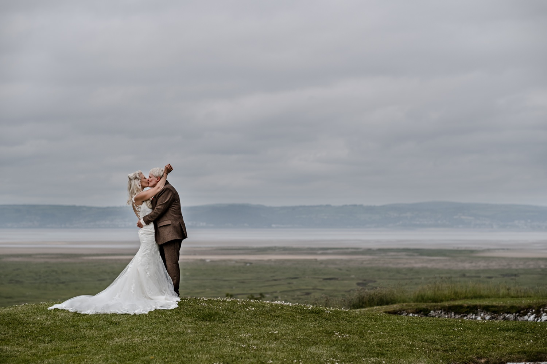 Same sex wedding portraits at Ocean View Windmill Farm, South Wales