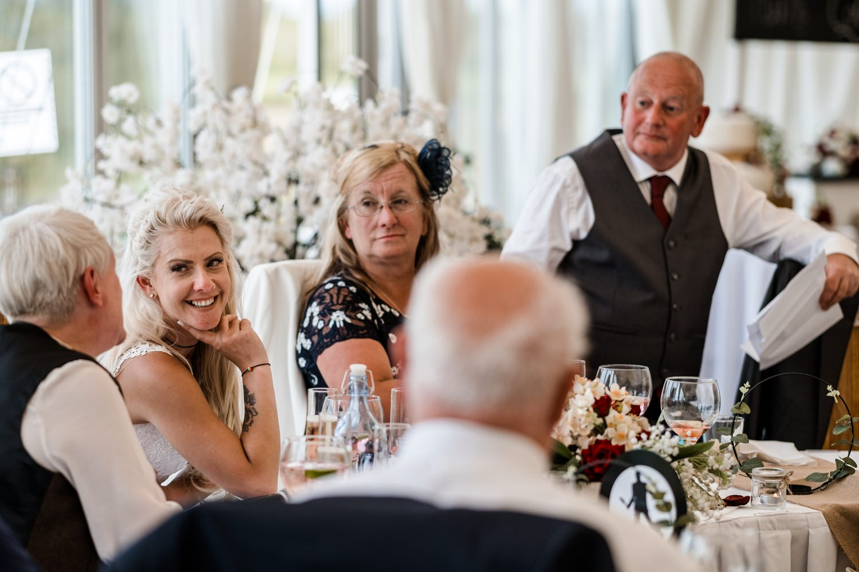 Same sex wedding speeches at Ocean View Windmill Farm, South Wales
