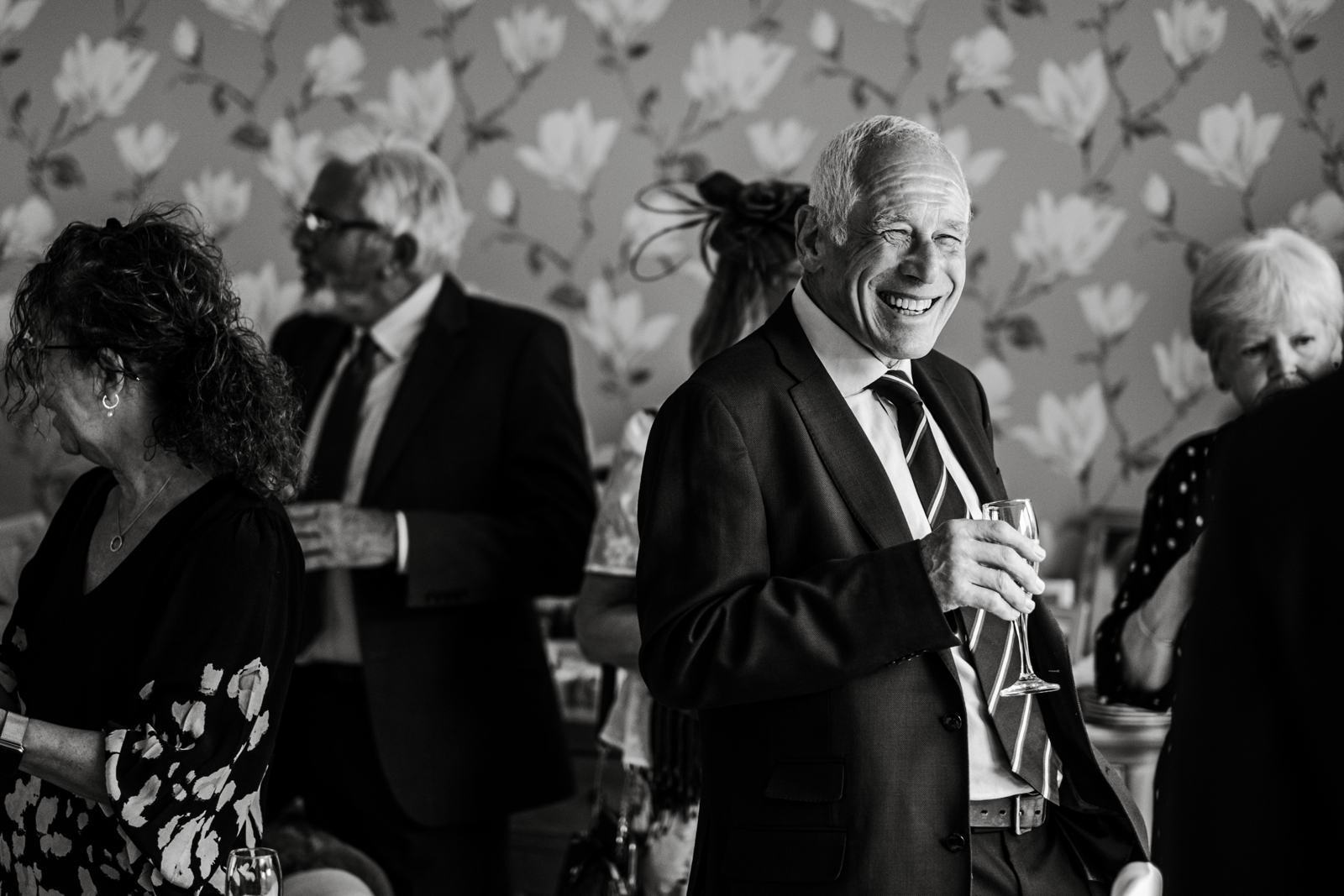 Home wedding reception in South Wales