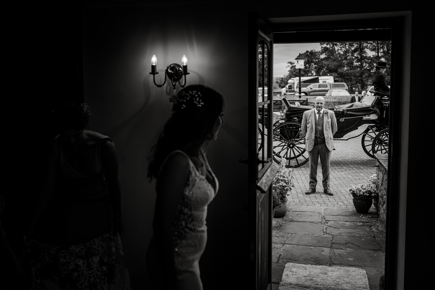 Dad waits outside for bride