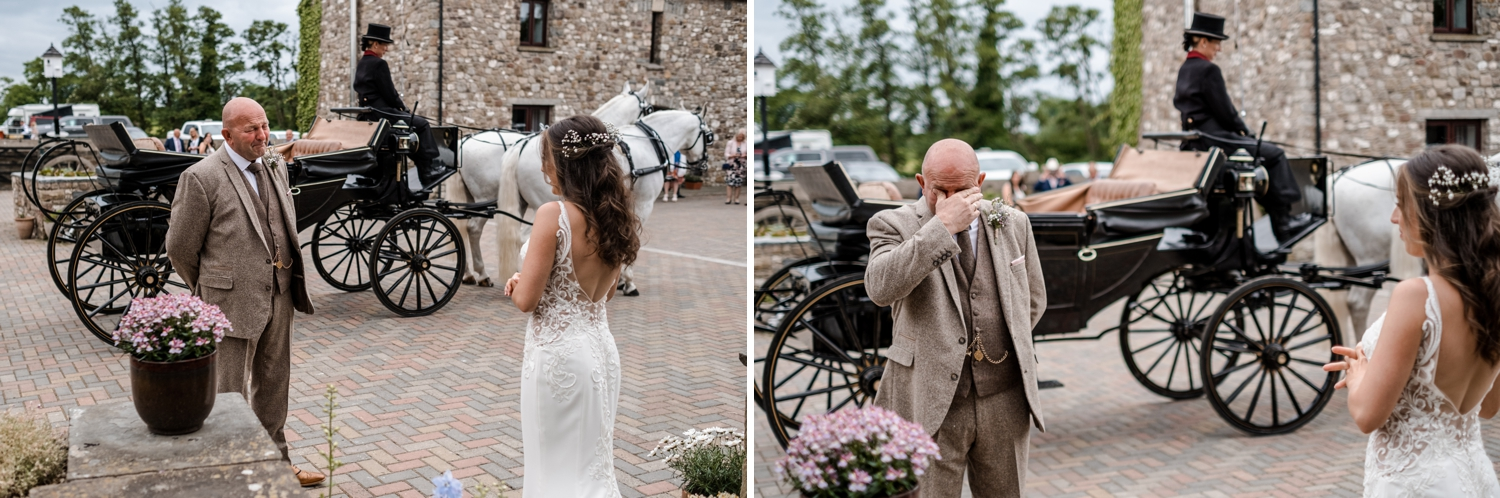 Father cries when sees daughter in her bridal dress