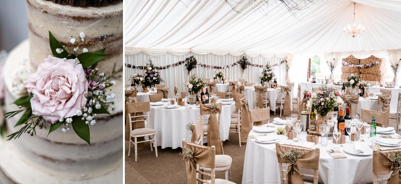 Welsh farm wedding reception