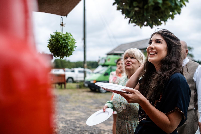Food trucks atWelsh farm wedding