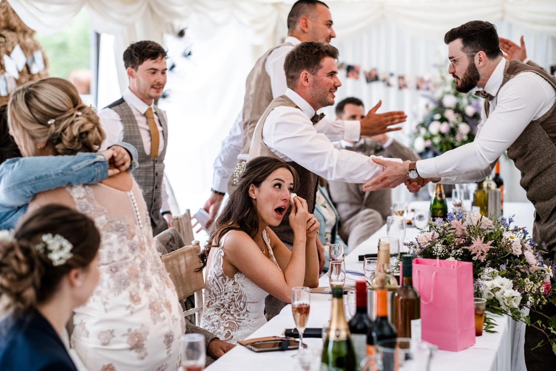 Welsh farm wedding speeches
