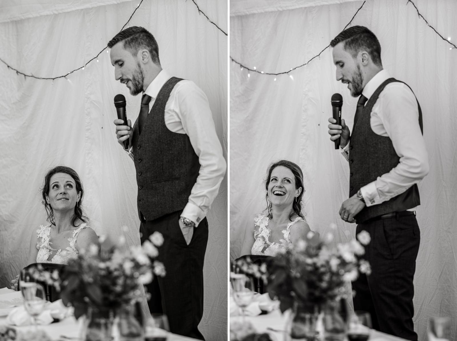 wedding speeches at Gants Mill, Somerset